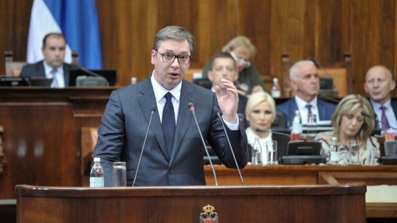 Skupština Srbije usvojila izveštaj o Kosovu, Vučić poručio da je za kompromis