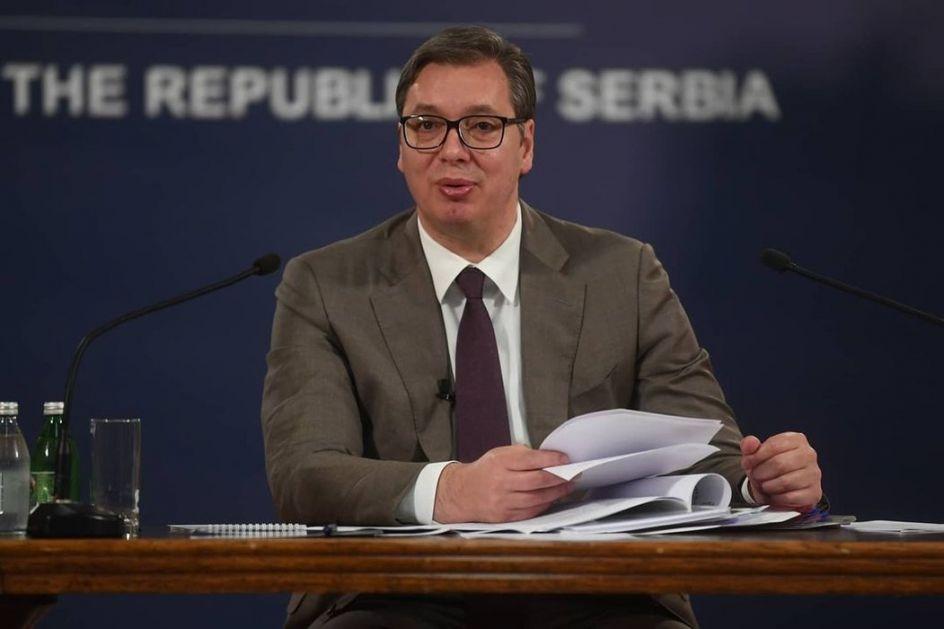 Vučić primio u oproštajnu posetu ambasadora Kazahstana