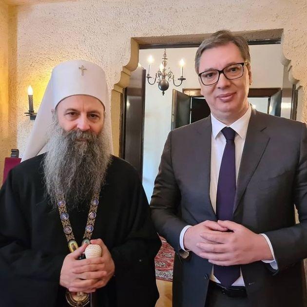 Vučić sa Porfirijem o važnim pitanjima za državu i Crkvu