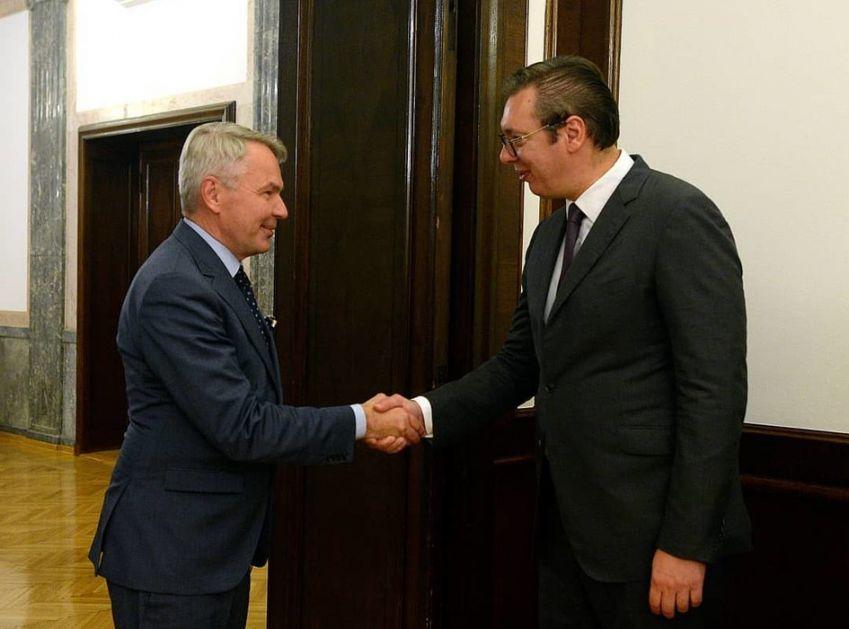 Vučić i Brnabić razgovarali sa šefom finske diplomatije