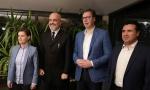 Vučić i Brnabić ugostili Zaeva i Ramu na Petrovaradinskoj tvrđavi (FOTO)