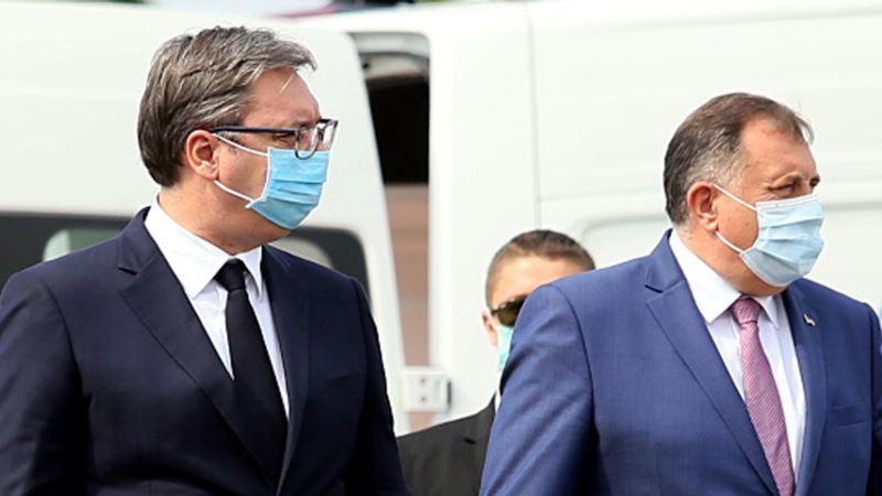 Vučić i Dodik otkrili spomen ploču žrtvama 'Oluje' u Sremskoj Rači