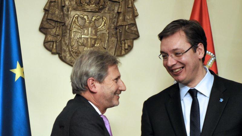 Vučić i Han o napretku Srbije u eurointegracijama