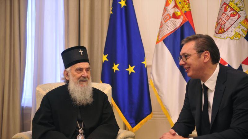Vučić i Irinej o političkoj situaciji