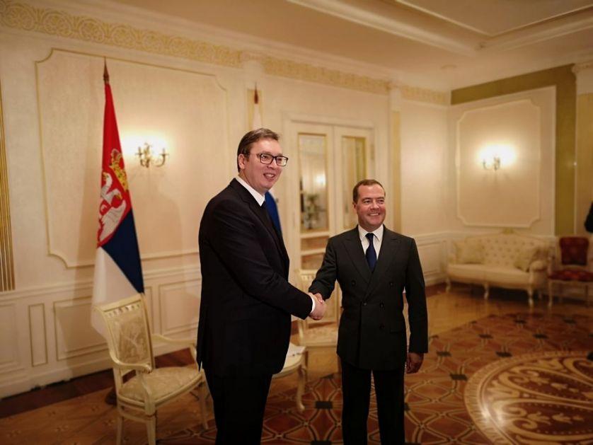 Vučić i Medvedev: Veoma dobri odnosi Srbije i Rusije na svim poljima