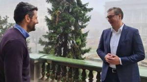 Vučić i Šapić razgovarali danas na terasi Predsedništva