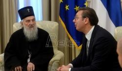 Vučić i patrijarh Irinej: Više rada i više jedinstva će uvek davati značajno veće rezultate
