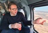 Vučić iz helikoptera: Ne mogu a da ne podelim sa vama oduševljenje FOTO