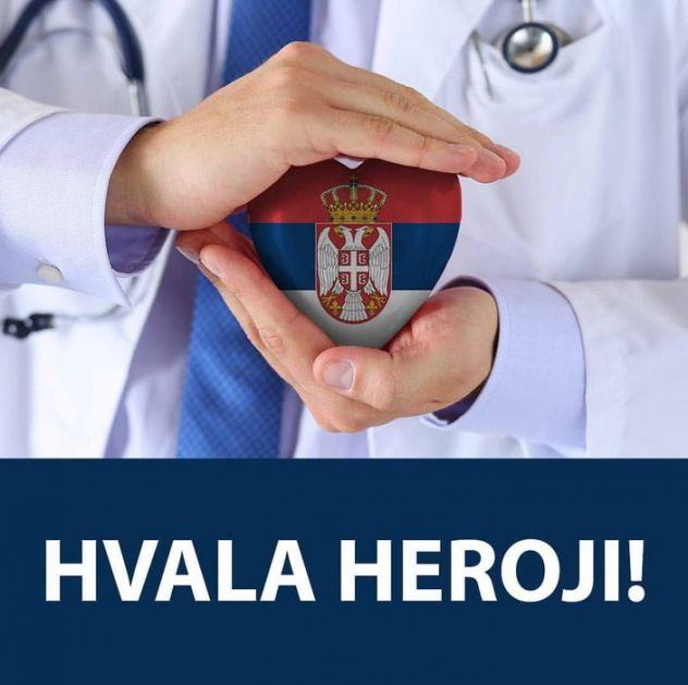 Vučić lekarima: Hvala, heroji!