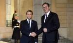 Vučić na večeri s Makronom i učesnicima Pariskog foruma; Bilateralni susret dvojice lidera