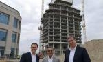 Vučić obišao Beograd na vodi: PONOSAN sam na ovo gradilište, KULA gotova za 15 meseci (FOTO)