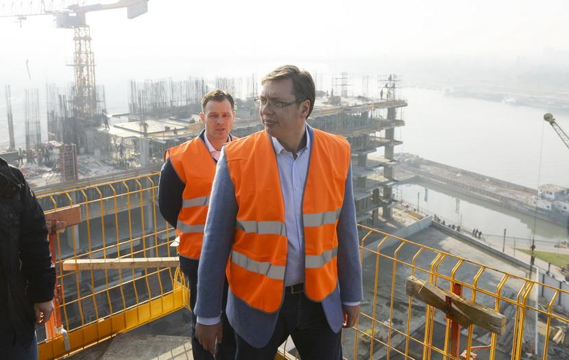Vučić obišao Beograd na vodi: Ovde će biti 6.000 stanova (VIDEO)