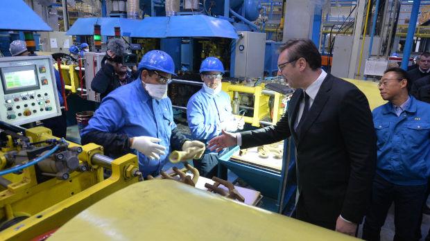Vučić obišao fabriku Meita
