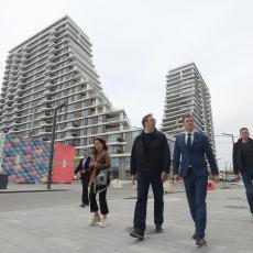Vučić obišao projekat Beograd na vodi: Najveće gradilište u ovom delu Evrope