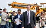 Vučić obišao radove na Beogradu na vodi