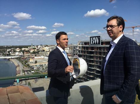 Vučić obišao radove na kulama Beograda na vodi, sledeće godine prvi stanari