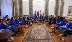 Vučić priredio prijem za odbojkašice Srbije