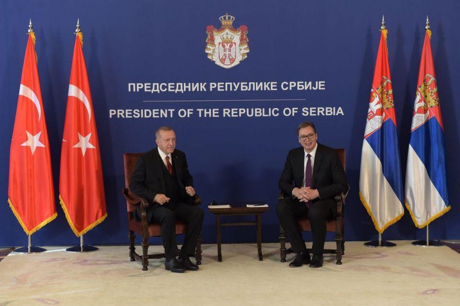 Vučić razgovarao sa Erdoganom o regionalnim i globalnim pitanjima