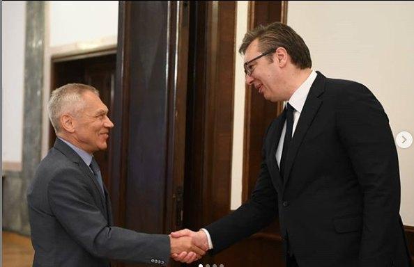 Vučić s Bocan Harčenkom o patrijarhu, saradnji, projektima