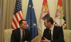 Vučić sa Grenelom: Rešavanje kosovskog pitanja može biti postignuto samo poštovanjem ...