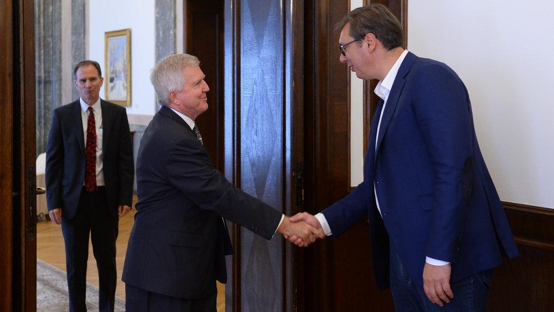 Vučić sa ambasadorima SAD, Poljske i Slovenije