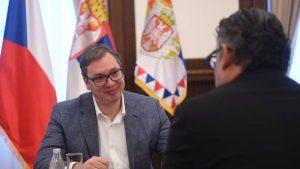 Vučić sa ambasadorom Češke uoči posete Pragu