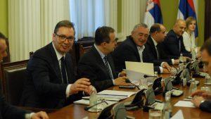 Vučić sa delom opozicije na sastanku Radne grupe za međupartijski dijalog o Kosovu