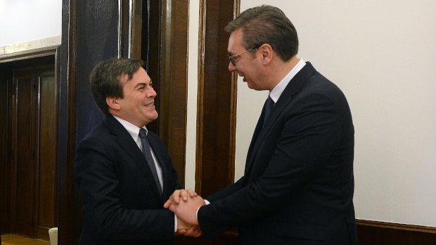 Vučić sa italijanskim ministrom za evropske poslove