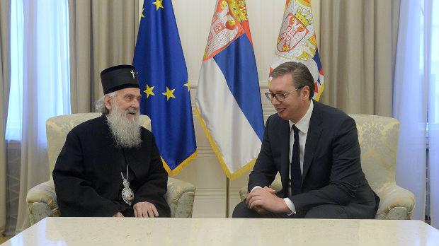 Vučić sa patrijarhom Irinejom: Više rada i više jedinstva činiće Srbiju boljom