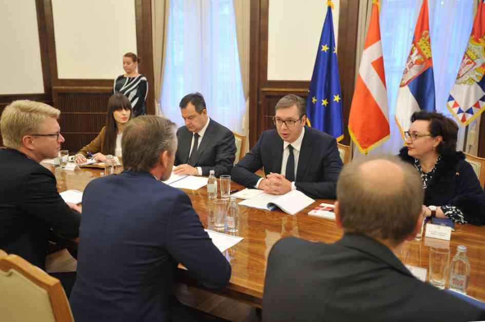 Vučić sa šefom danske diplomatije o produbljivanju saradnje