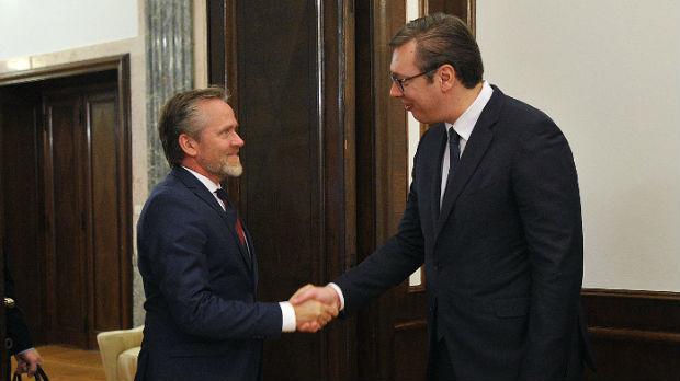 Vučić sa šefom danske diplomatije