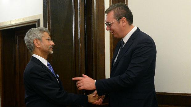 Vučić sa šefom indijske diplomatije o odnosima dve zemlje