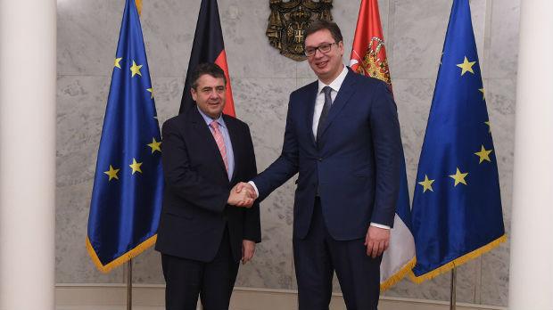 Vučić sa vicekancelarom Nemačke Gabrijelom