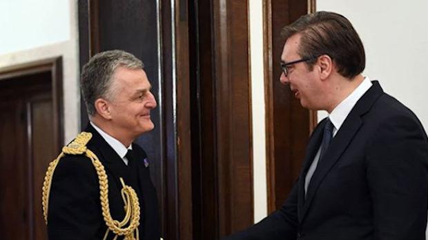 Vučić sa admiralom Frejzerom: Srbija čvrst oslonac za stabilan Balkan
