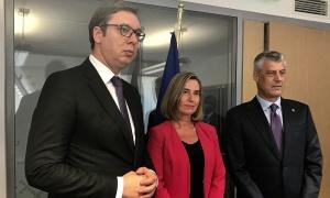 Vučić se sastao s Mogerini, s Tačijem razmenio nekoliko rečenica