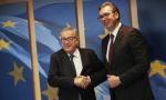 Vučić se sastao sa Junkerom i Hanom u Briselu, sledi  večera s Mogerini