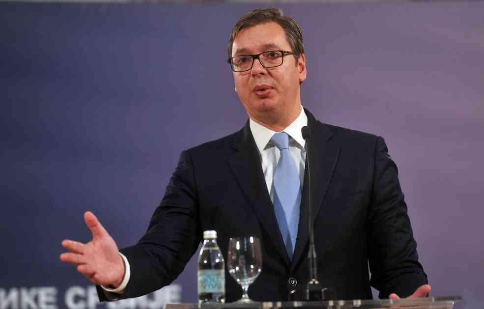 Vučić: Hoćete predsednika koji bi ratovao zbog jedne zastave?