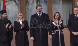 Vučić: Srbi jedan isti narod gde god da žive. Dodik: Bez SPC nema ni srpskog naroda (VIDEO)
