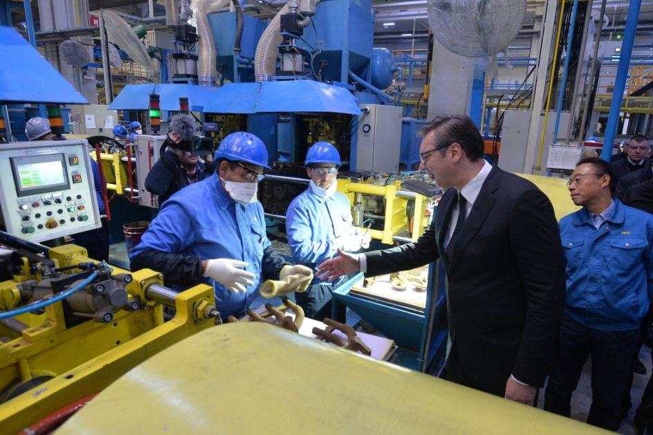 Vučić u fabrici Mei Ta u Bariču: Svi su bili u neverici, a danas ovde radi 3.000 ljudi