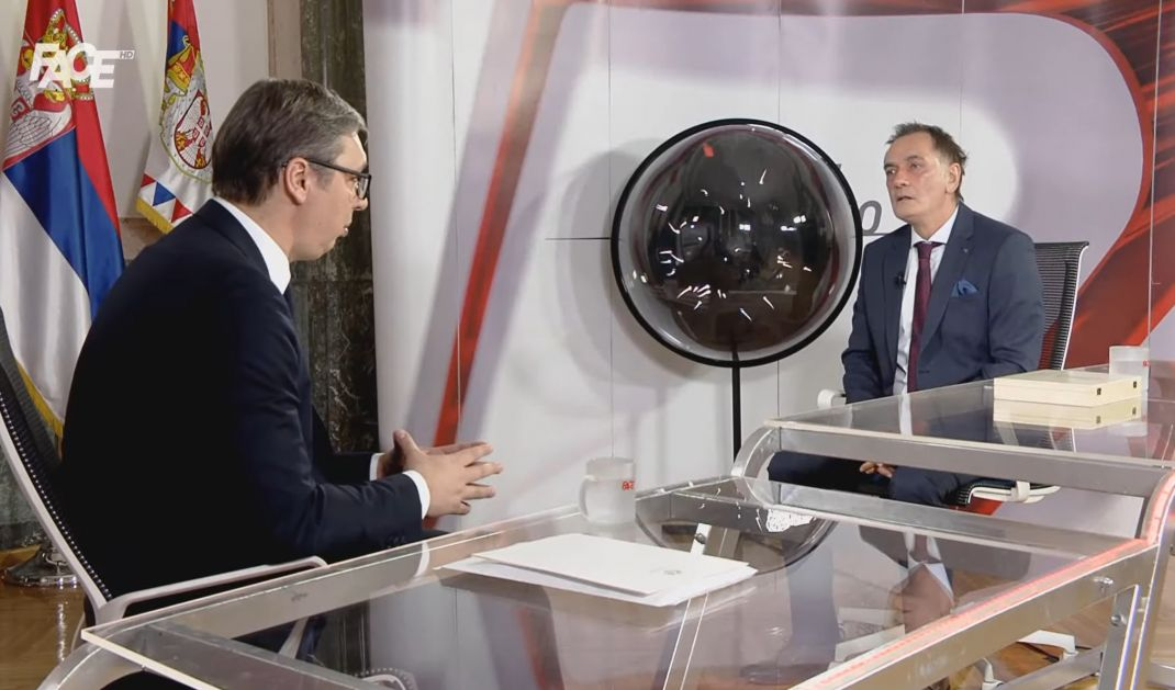 Vučić za Face TV: Interes Srbije su mir i stabilnost u regionu, ne želimo cijepanje BiH