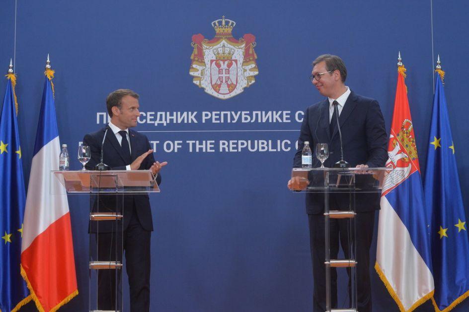 Vučić zamolio Makrona za pomoć na evropskom putu i rešavanju kosovskog pitanja