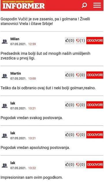 Vučićev penal k'o Mijatova prečka, izaziva teške traume tokom odrastanja