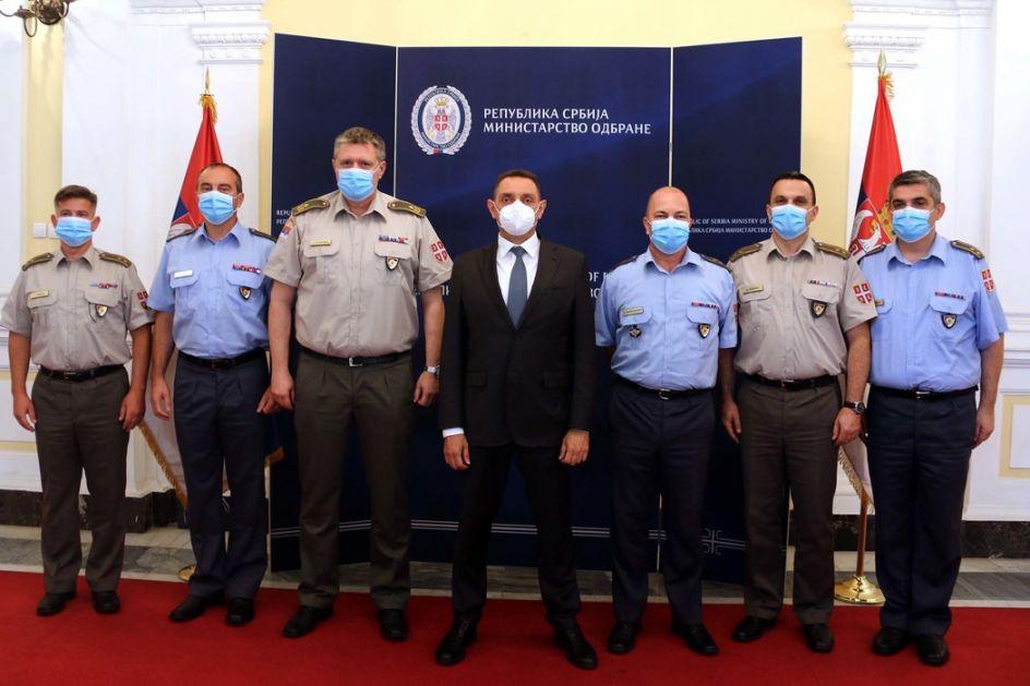 Vulin sa oficirima iz diplomatskih misija