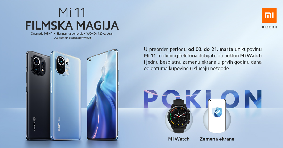 Xiaomi Mi 11 dostupan u Srbiji! (Preorder pokloni)