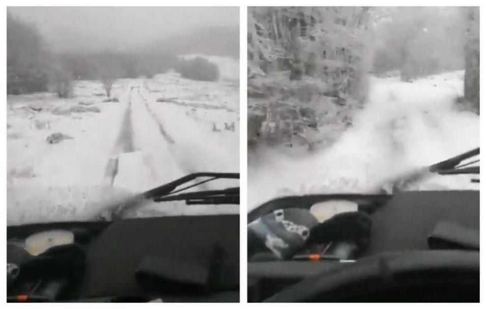 ZABELELA SE DALMACIJA: Sneg pao u višim predelima a temperatura otišla ispod nule! (VIDEO)