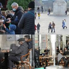 ZABRINJAVAJUĆI PRIZORI IZ BEOGRADA! Dok kafići ne rade, grad vrvi od ljudi uprkos novim merama (FOTO)