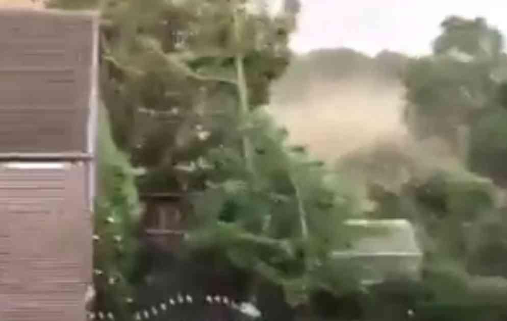 ZASTRAŠUJUĆE! NEMAČKU POGODIO TORNADO: Pogledajte prve stravične snimke sa lica mesta! Ima POVREĐENIH! (VIDEO)