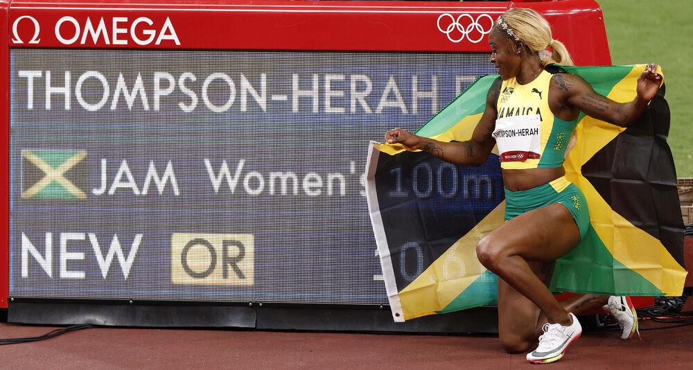 ŽENA ZMAJ! Jamajčanka kao Bolt: Ilejn Tompson osvojila ZLATO u trci na 100 metara uz novi OLIMPIJSKI REKORD! (FOTO)