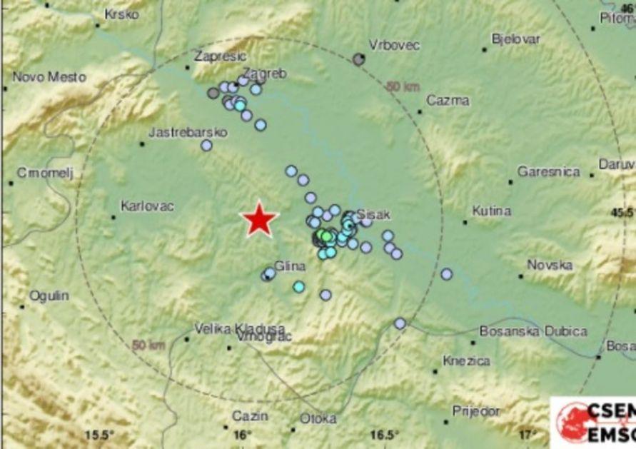 ZVUCI UŽASA IZ PETRINJE: Evo kako zvuči jučešnji potres od 3,8 stepeni po Rihteru VIDEO