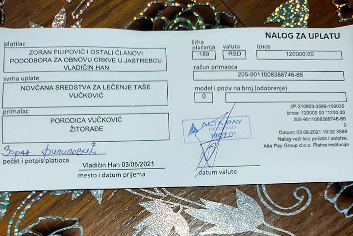 Za Tašino lečenje treba još 8.000 evra, stigla i uplata od 120.000 dinara